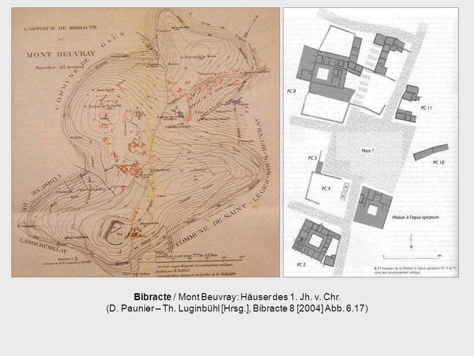 Bibracte / Mont Beuvray: Häuser des 1. Jh. v. Chr. (D. Paunier – Th