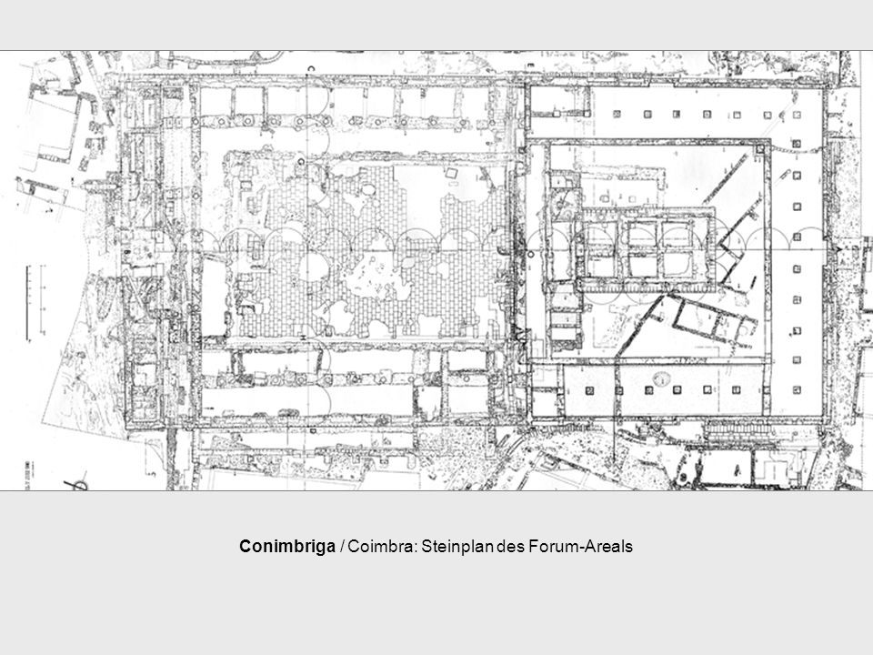 Conimbriga / Coimbra: Steinplan des Forum-Areals