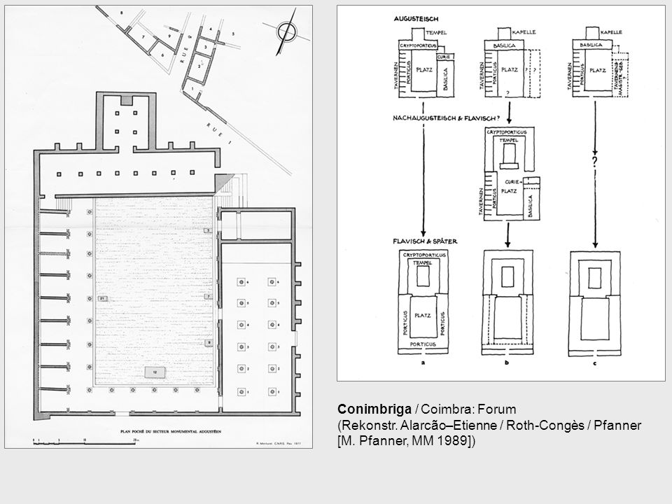 Conimbriga / Coimbra: Forum (Rekonstr