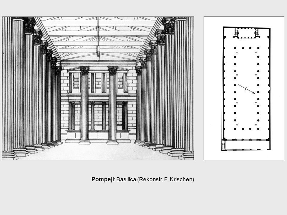 Pompeji: Basilica (Rekonstr. F. Krischen)