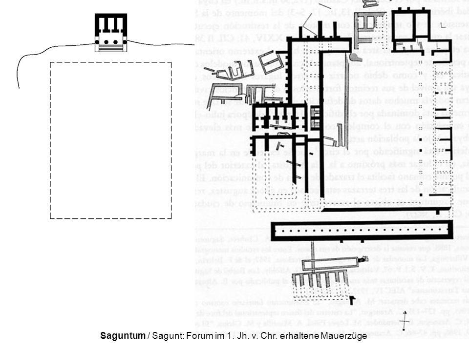 Saguntum / Sagunt: Forum im 1. Jh. v. Chr. erhaltene Mauerzüge