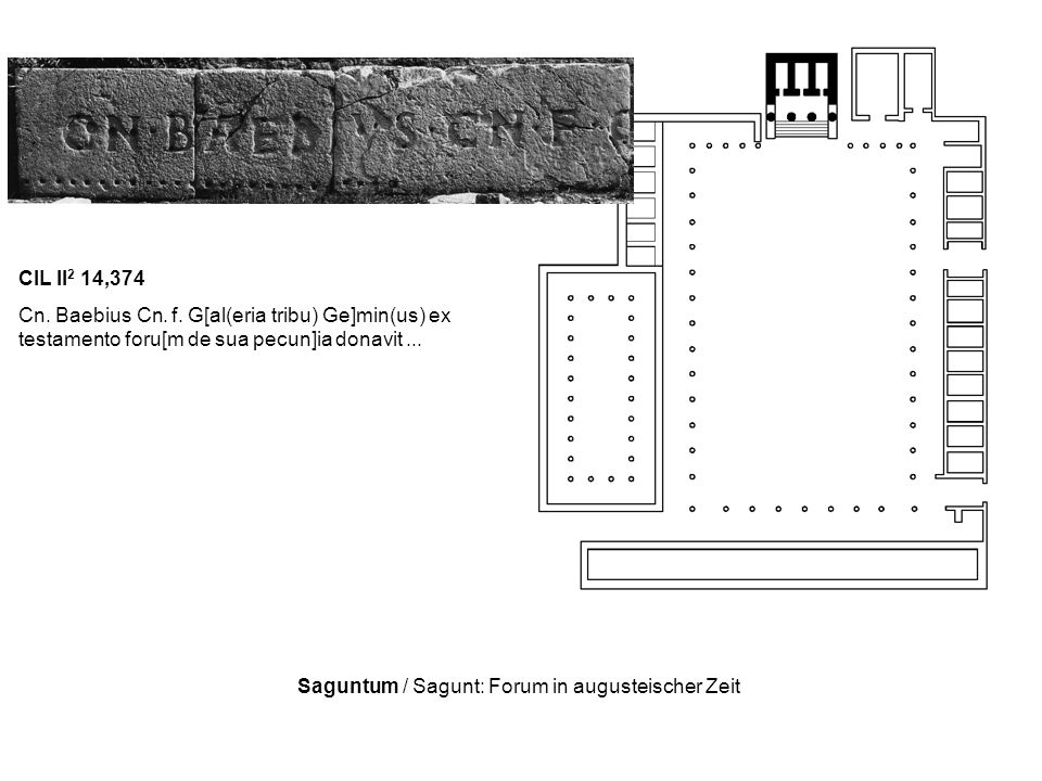 Saguntum / Sagunt: Forum in augusteischer Zeit
