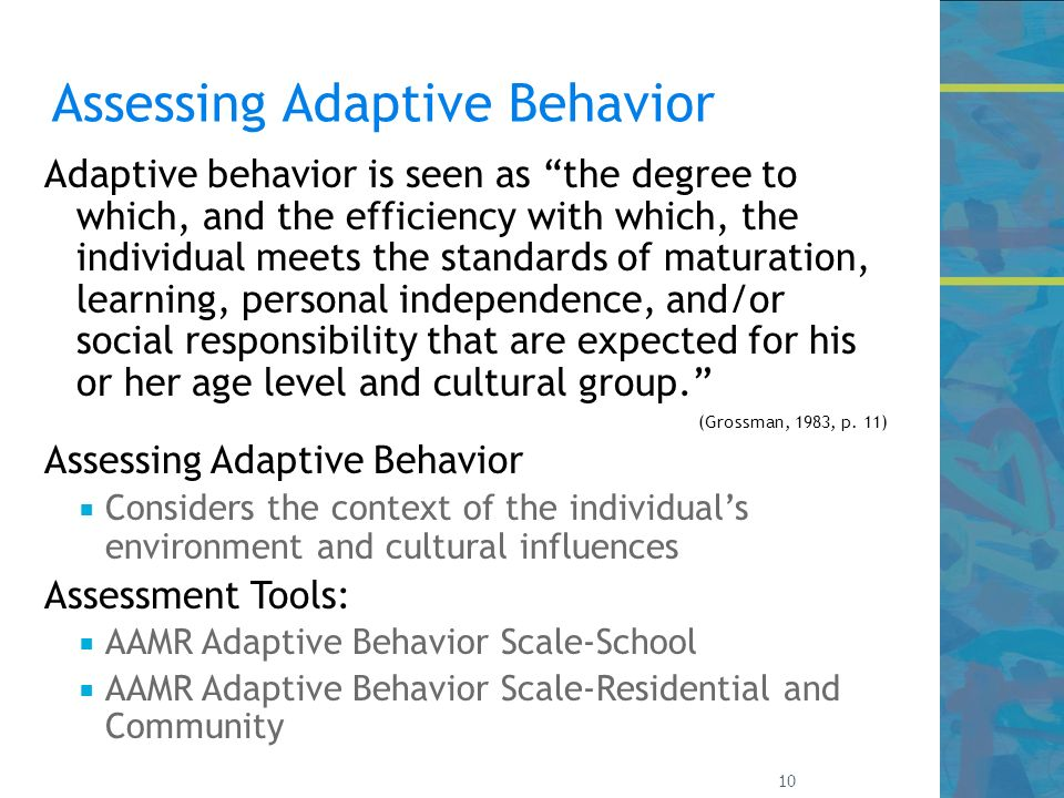 how to create adaptive behaviours