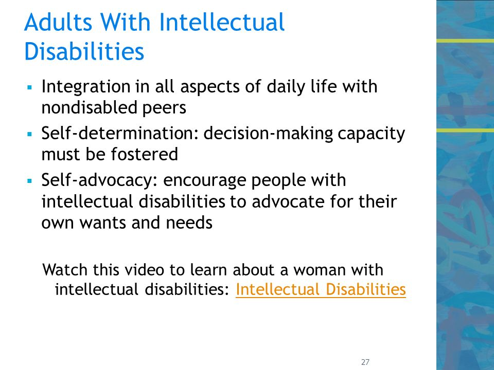 individuals with intellectual disabilities or mental