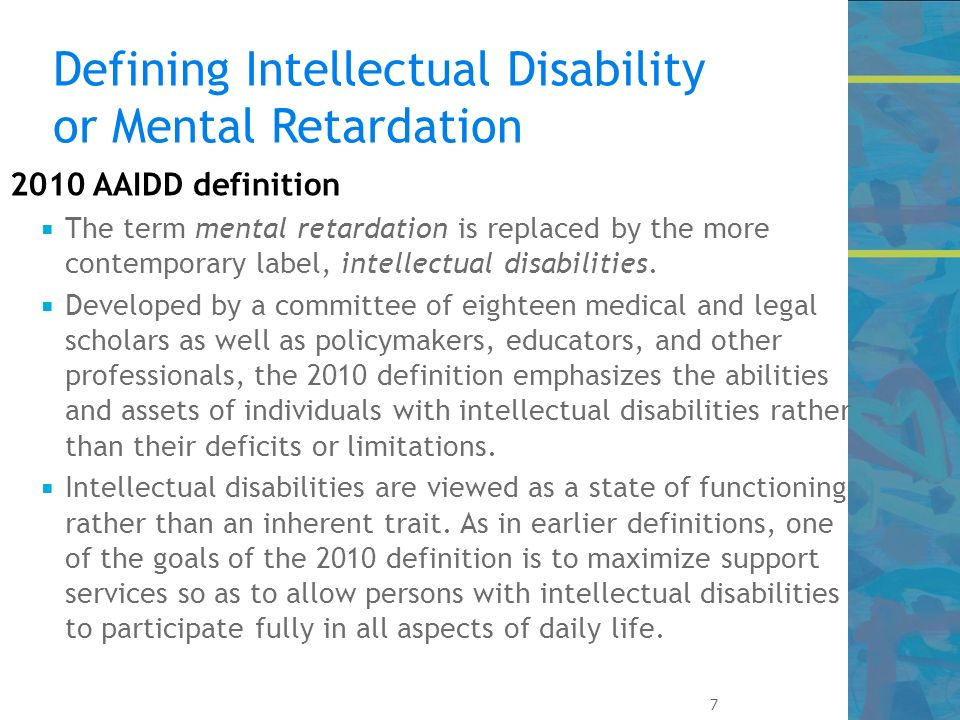 intellectual disabilities Intellectual disability characteristics have a wide range of degree and effects this article discusses intellectual disability characteristics in depth.