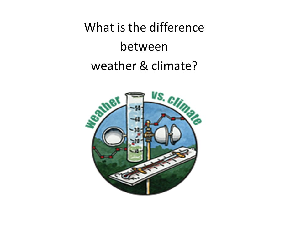 What is the difference between weather & climate