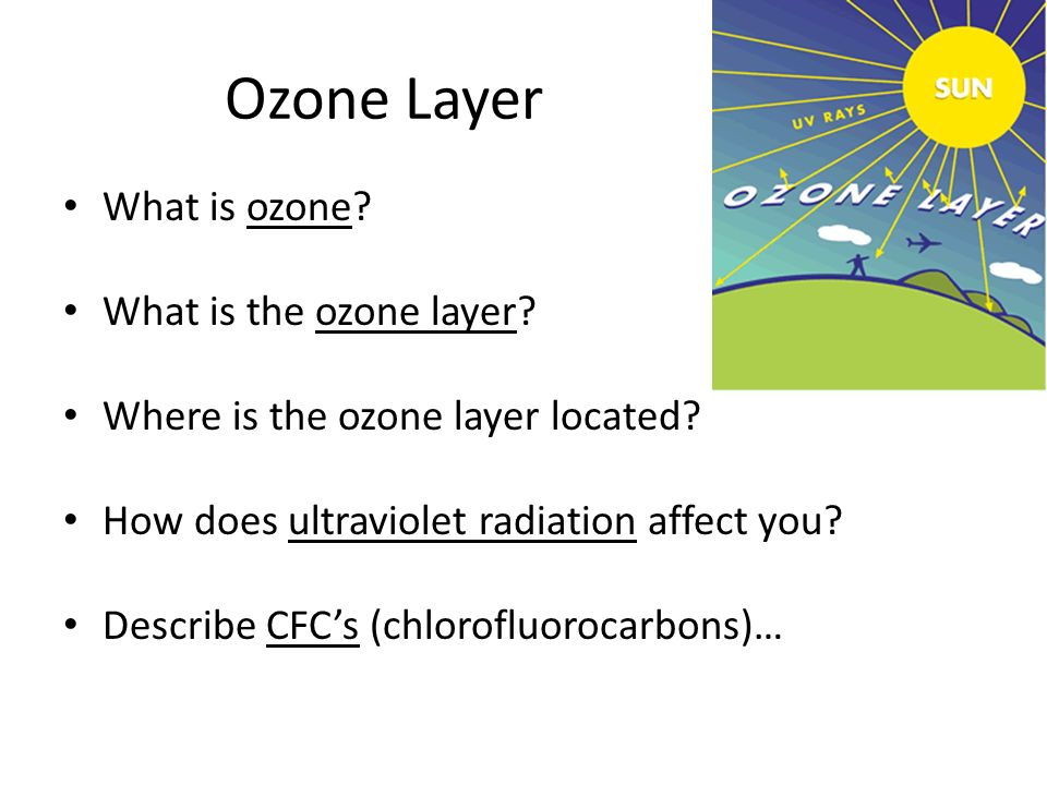 Ozone Layer What is ozone What is the ozone layer