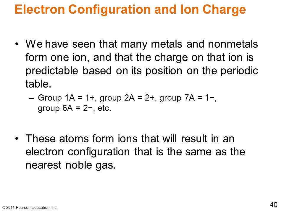 Chapter 8 periodic properties of the element ppt download 40 electron configuration and ion charge urtaz Image collections