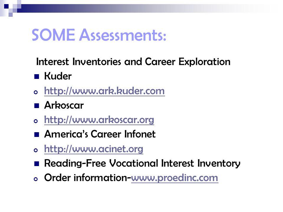 Sample career assessment
