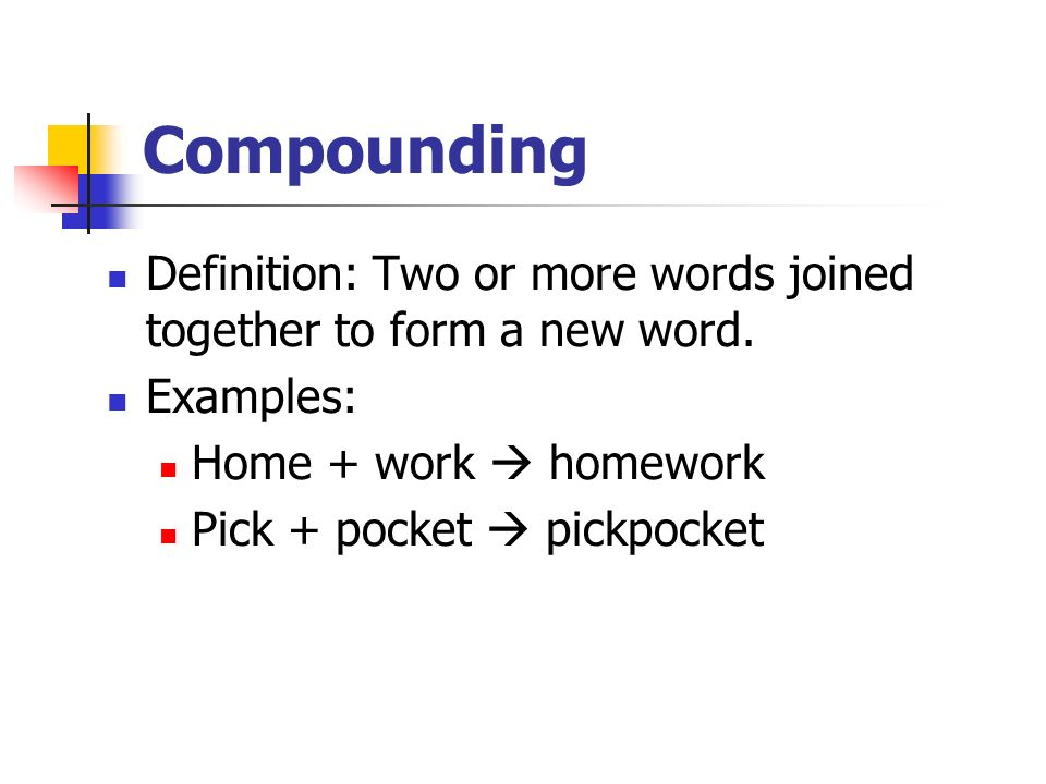 essay about word formation