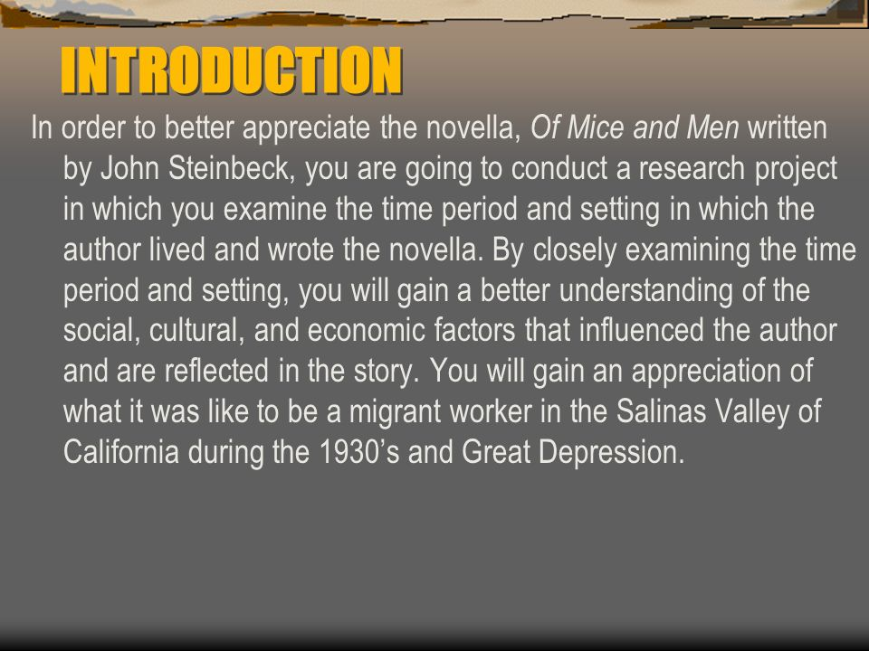 does steinbeck present culture migrant workers novel mice