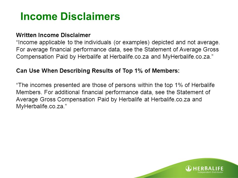 earnings disclaimer template marketing ppt video online download