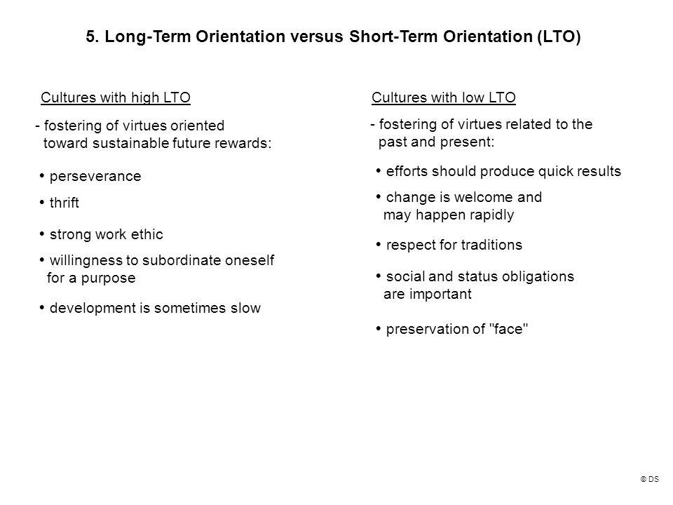 long term orientation