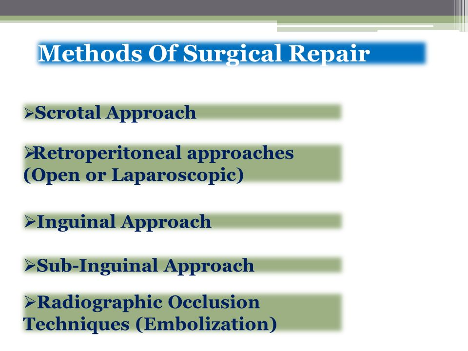 Methods Of Surgical Repair
