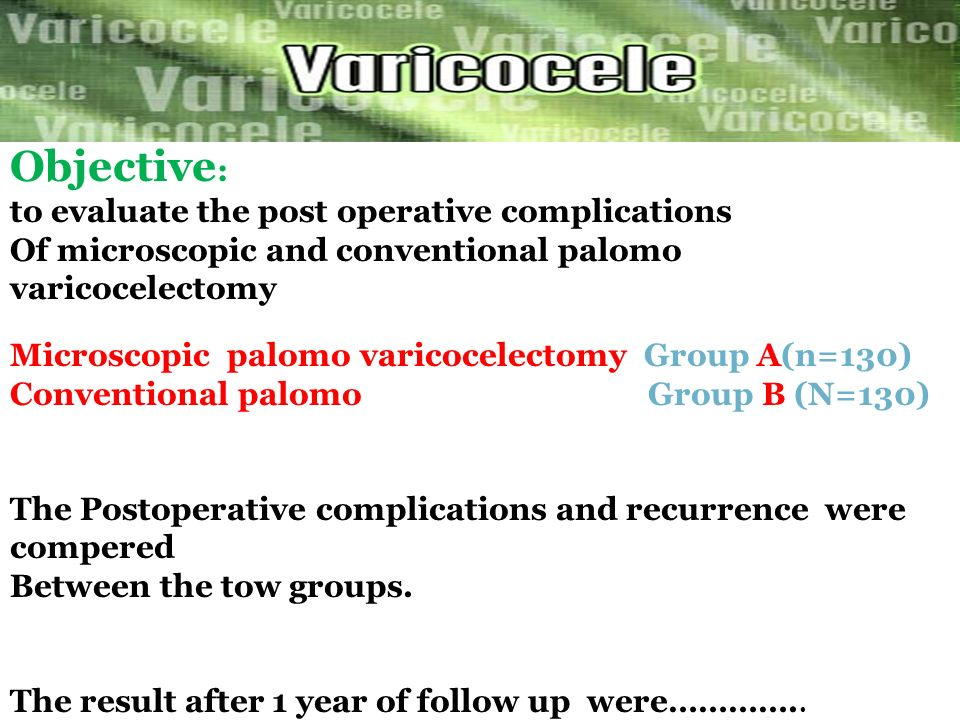 Objective: to evaluate the post operative complications