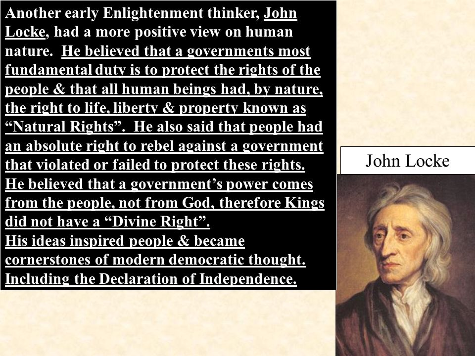 the enlightenment view of human nature essay That's the view that human nature is fixed, and that our current batch of  this  essay is a riff on three basic premises: first, that history is driven.