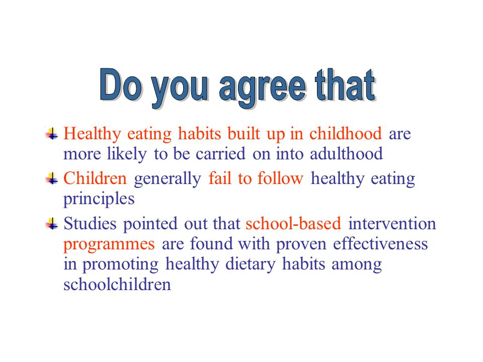 Guidelines for School Health Programs to Promote Lifelong Healthy Eating