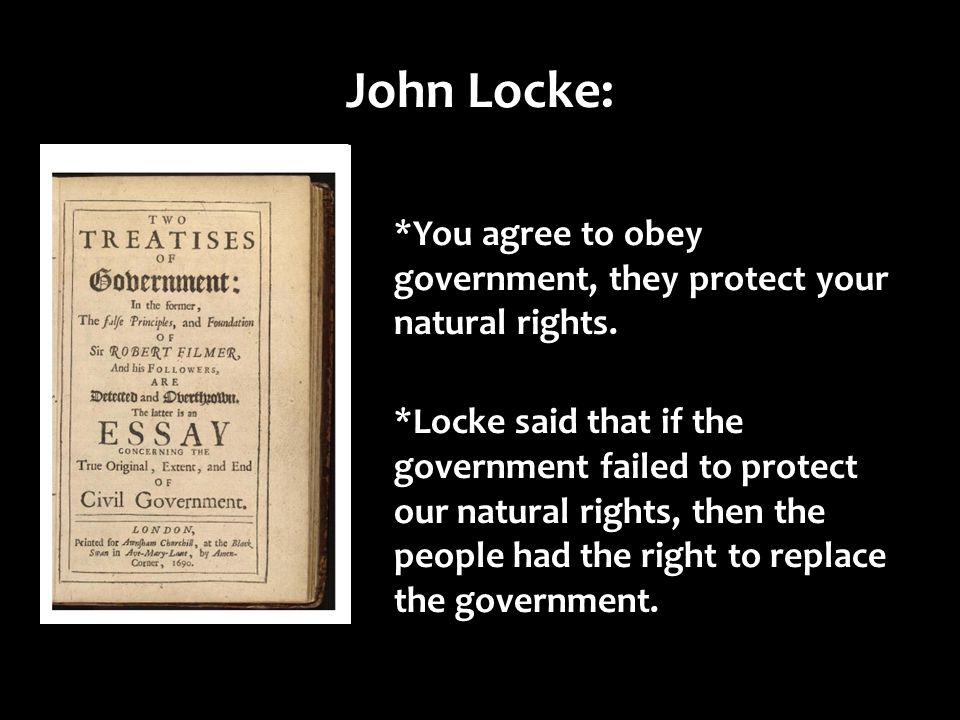 John Locke People S Natural Rights Are