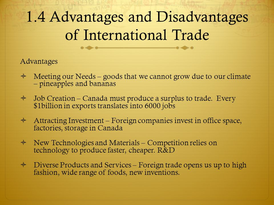 advantages and disadvantages of international trade essay We will write a custom essay sample on advantages & disadvantages of international trade or any similar topic specifically for you hire writer.