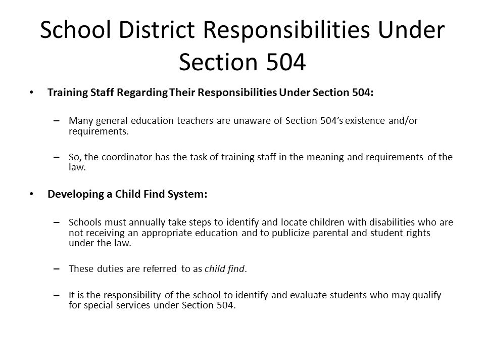 the impact of section 504 of Accommodating the disabilities of future teachers: impact of section 504 and the american disabilities act and the legal responsibilities for teacher education programs and policy development.