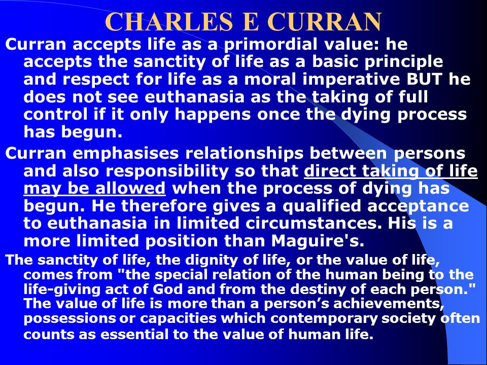 Euthanasia powerpoints prepared by dr peter vardy vice for What does shane maguire do for a living