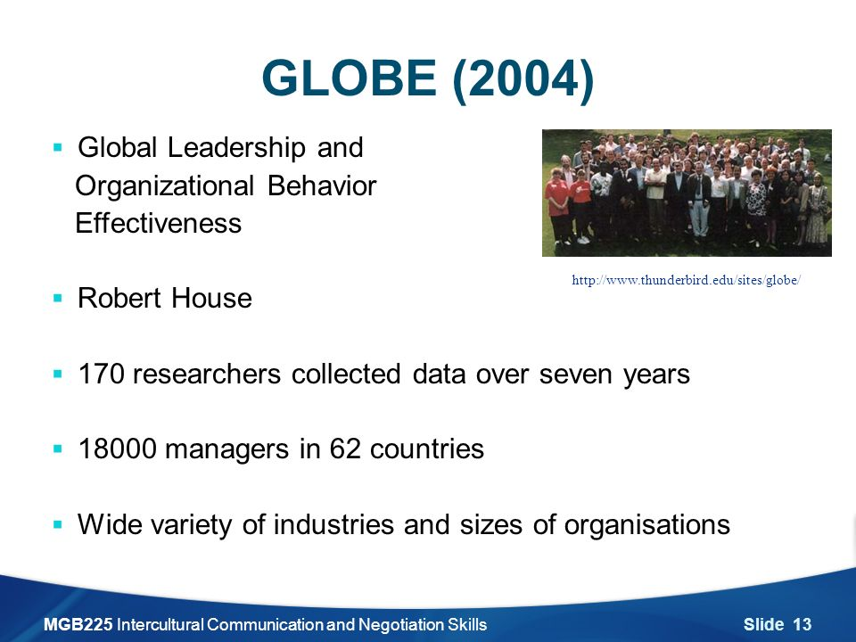 """global leadership and organizational behavior """"global leadership and organizational behavior effectiveness,"""" the  globes 62 societal cultures and 10 societal clusters ten societal clusters, and the number of societies within each cluster, are as follows."""