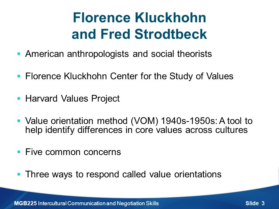 kluckhohn and strodtbeck This paper by clyde kluckhohn and the comments by a l kroeber were prepared for the wenner‐gren foundation's  kluckhohn and strodtbeck's.