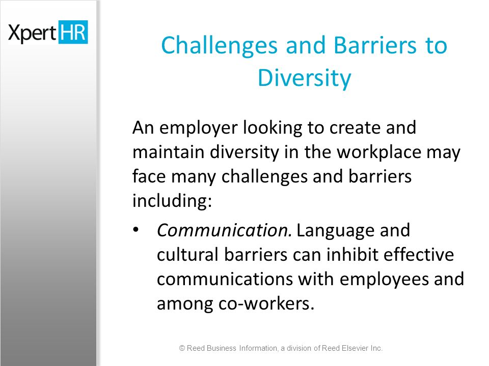 an analysis of the benefits and barriers in creating workforce diversity A diverse workforce offers new solutions, expanded critical analysis and higher quality decisions by creating organizational flexibility, with less tradition-bound and more divergent thinking accommodating diversity makes the organization more adaptable to other organizational issues.