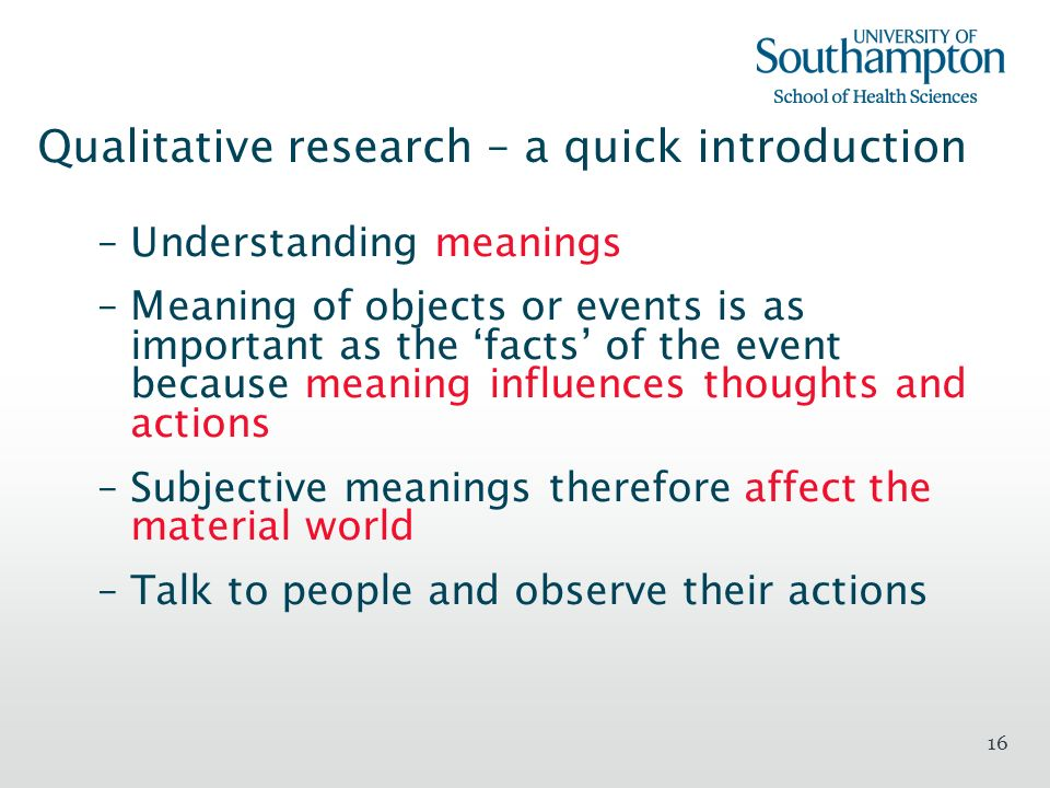 Qualitative research – a quick introduction