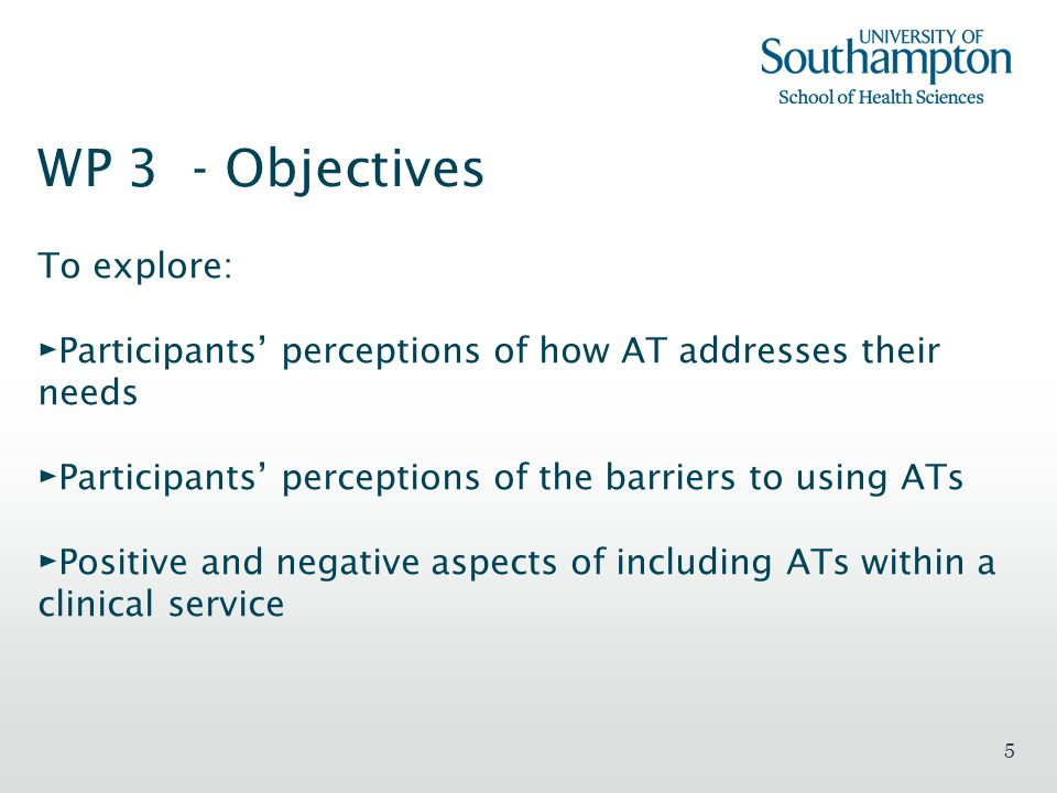 WP 3 - Objectives To explore: