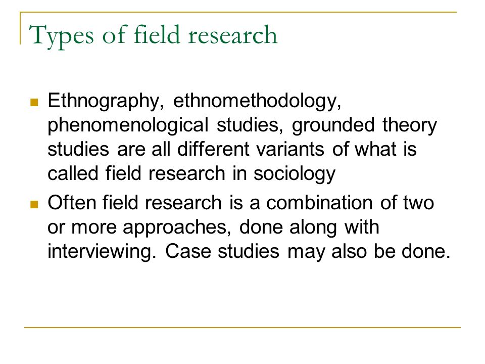 ethnographic field study essay Read this essay on ethnographic essay  the recent use of ethnographic field research  how to write a religious studies essay.