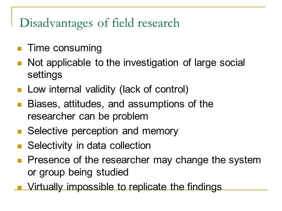 disadvantages of ethnographic research