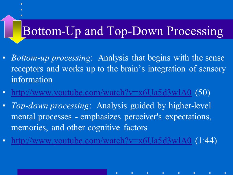 top down processing The extent of top-down processing is one way to pose some of the questions at issue in philosophical debates about cognitive penetrability.
