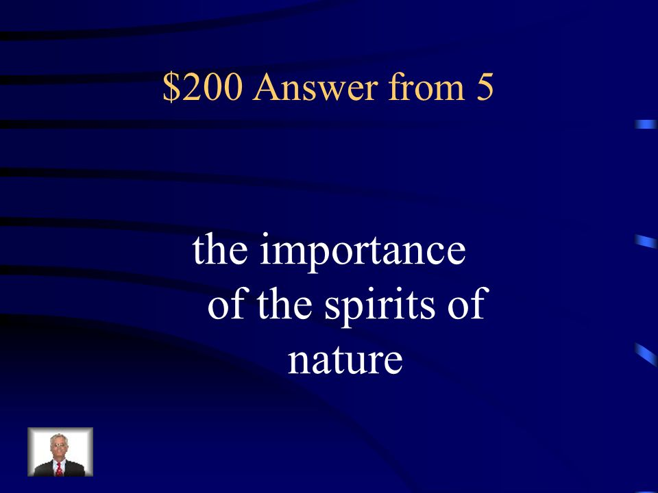 the importance of the spirits of nature