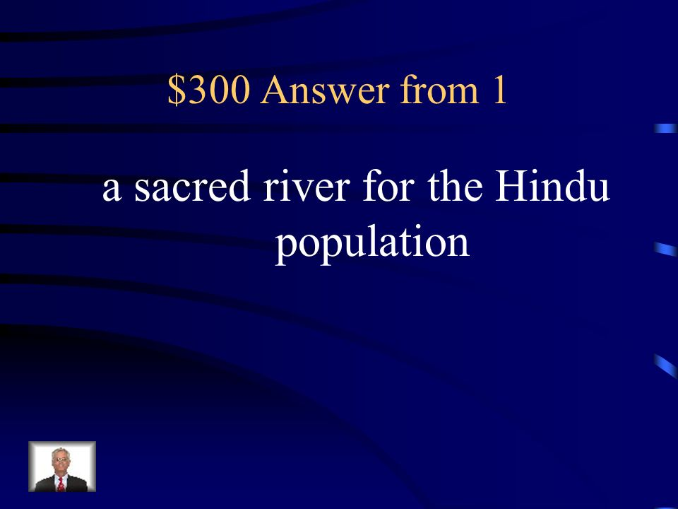 a sacred river for the Hindu population