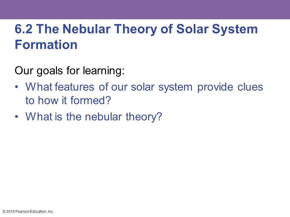 6.2 The Nebular Theory of Solar System Formation