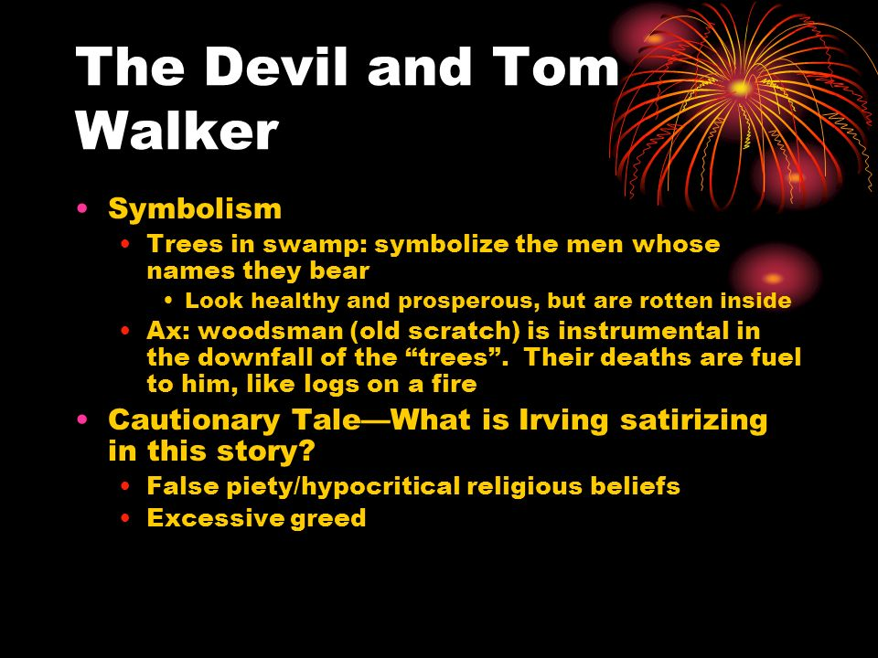 romanticism elements in the devil and tom walker Study flashcards on english - devil and tom walker - elements of the story at cramcom quickly memorize the terms, phrases and much more cramcom makes it easy to.