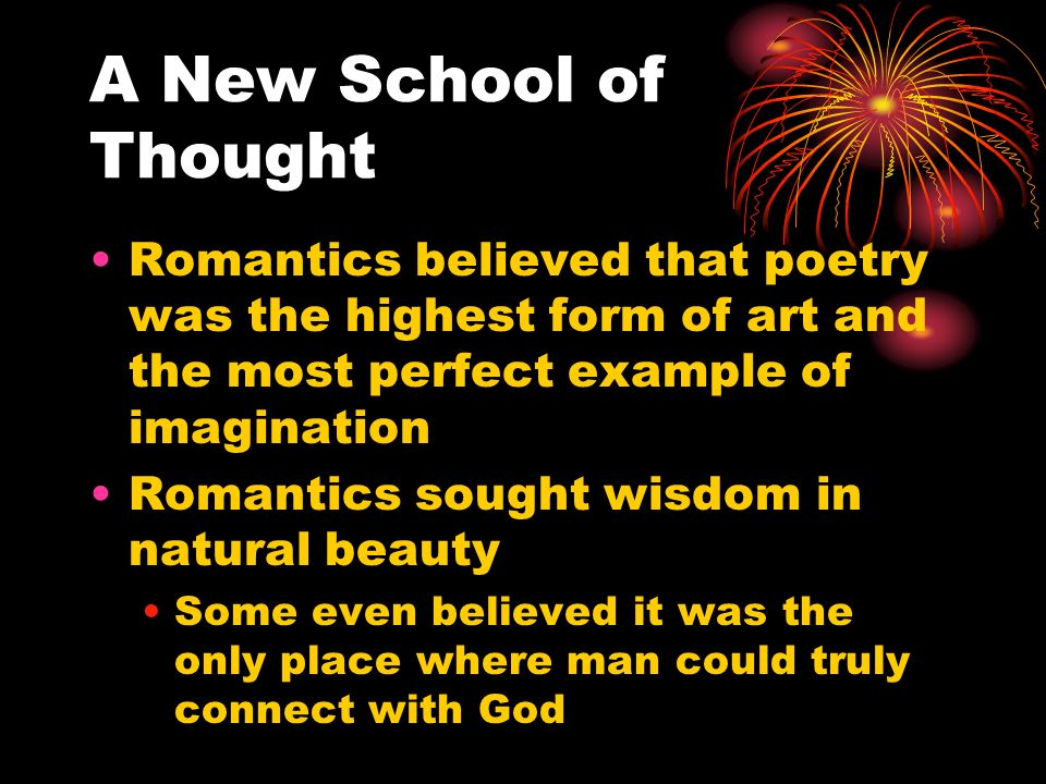 imagination in romantic poetry St coleridge's attitudes toward nature and their effect on or at least stopped creating great poems he realized that his imagination romantic poet is like.