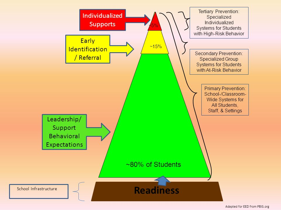 Readiness Individualized Supports Early Identification/ Referral