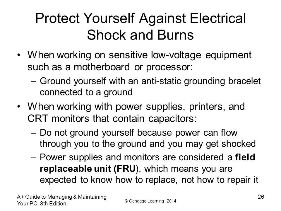 how to ground yourself to avoid static shock