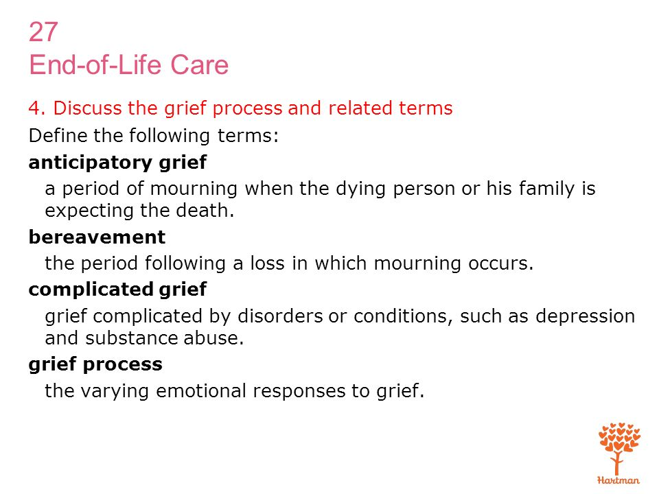 grief and the grieving process essay