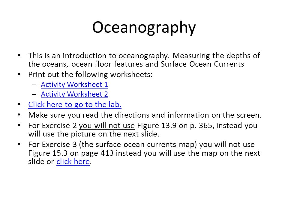 Virginia Earth Science Interactive SOL Review ppt video online – Oceanography Worksheets
