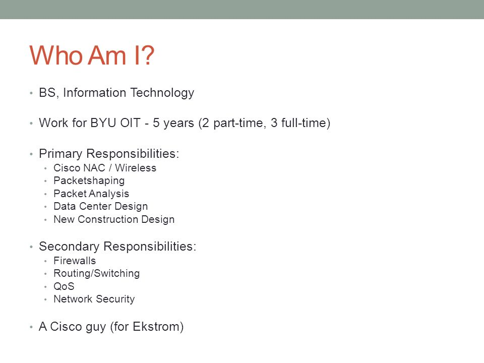 who am i bs information technology - Information Technology Responsibilities