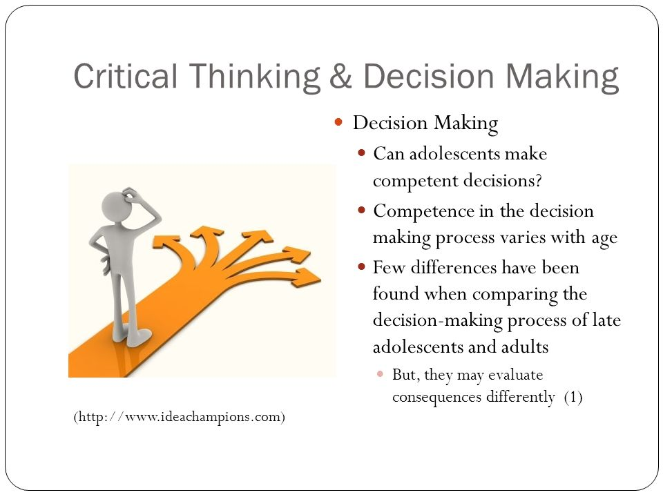 critical thinking and decision making training Problem solving, critical thinking, creativity, and decision making  the learner will be able to 1define problem solving, creativity, critical thinking and decision making 2discuss critical thinking and problem solving 3describe importance of critical thinking for  critical thinking, creativity, and decision makingppt managerial.
