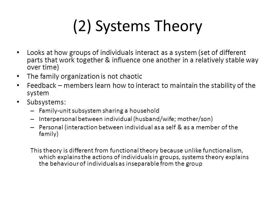 (2) Systems Theory