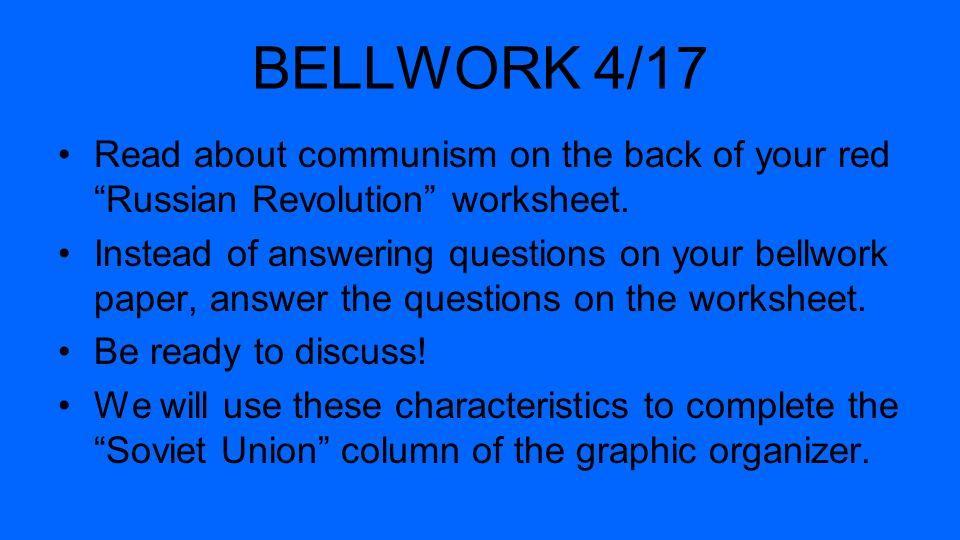 characteristics of russian revolution Russian revolution: study guide part i b bergey, 2007  q3: list three  characteristics of serfs poor uneducated.