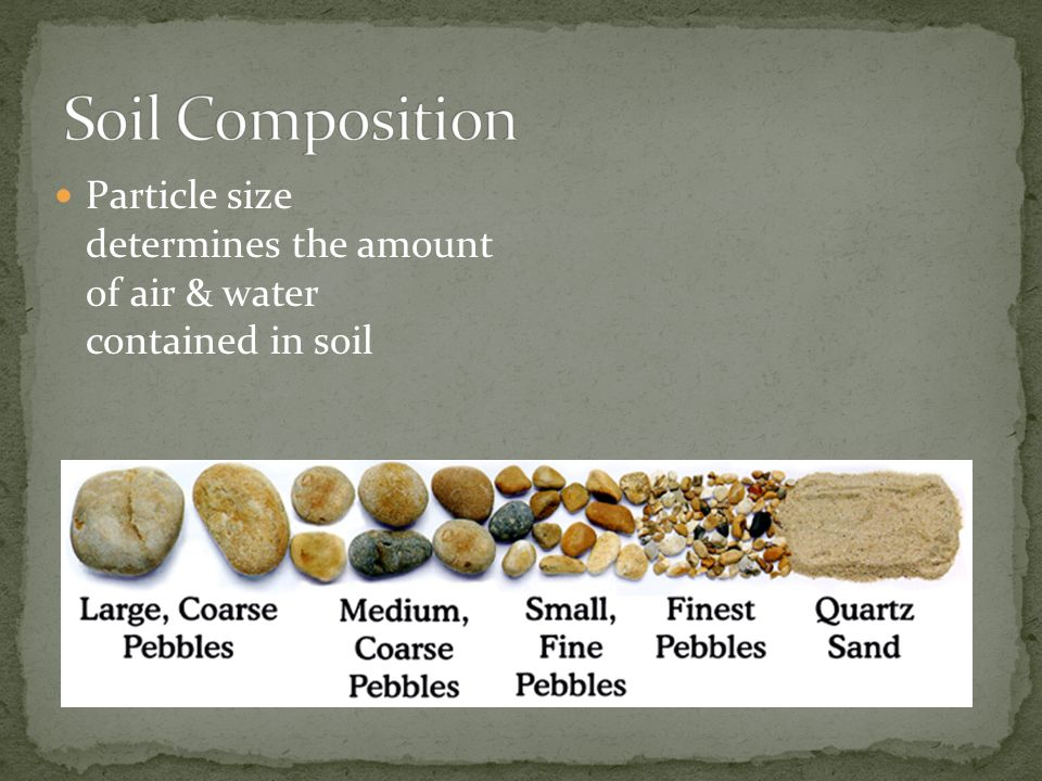 Soil man despite his artistic pretensions his for Soil composition definition