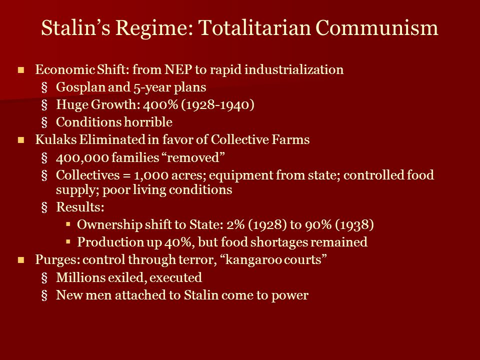 Examples of Totalitarianism