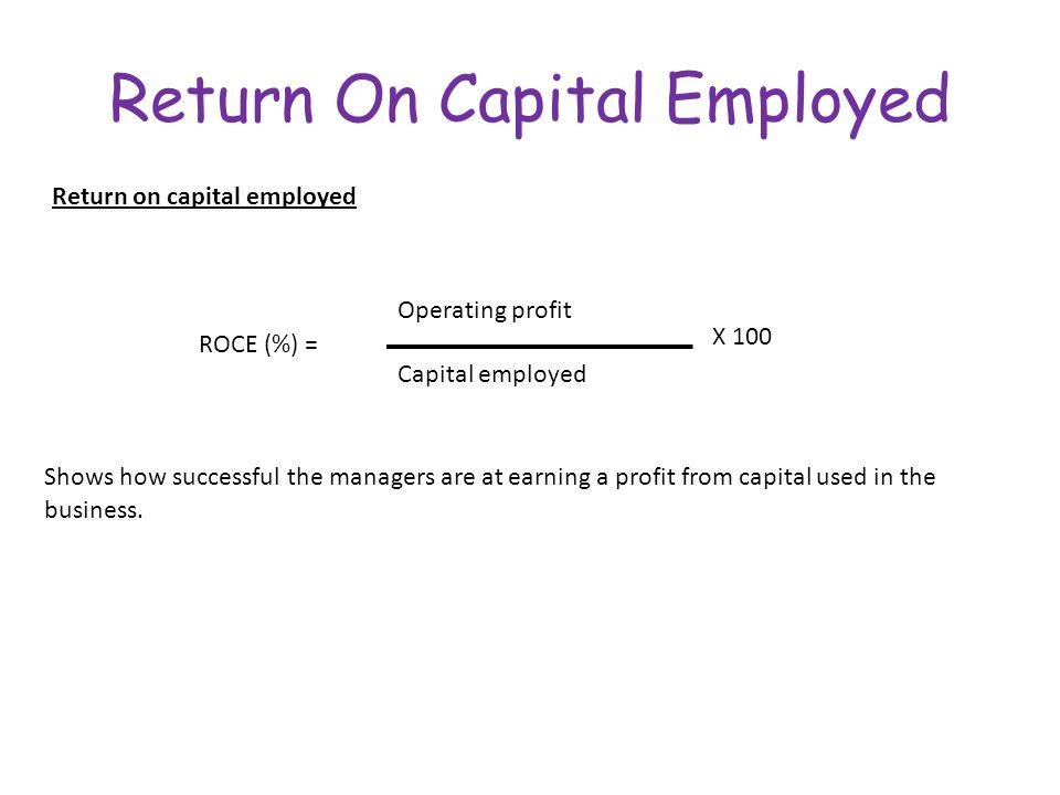 Return on capital employed ratio - explanation, formula ...