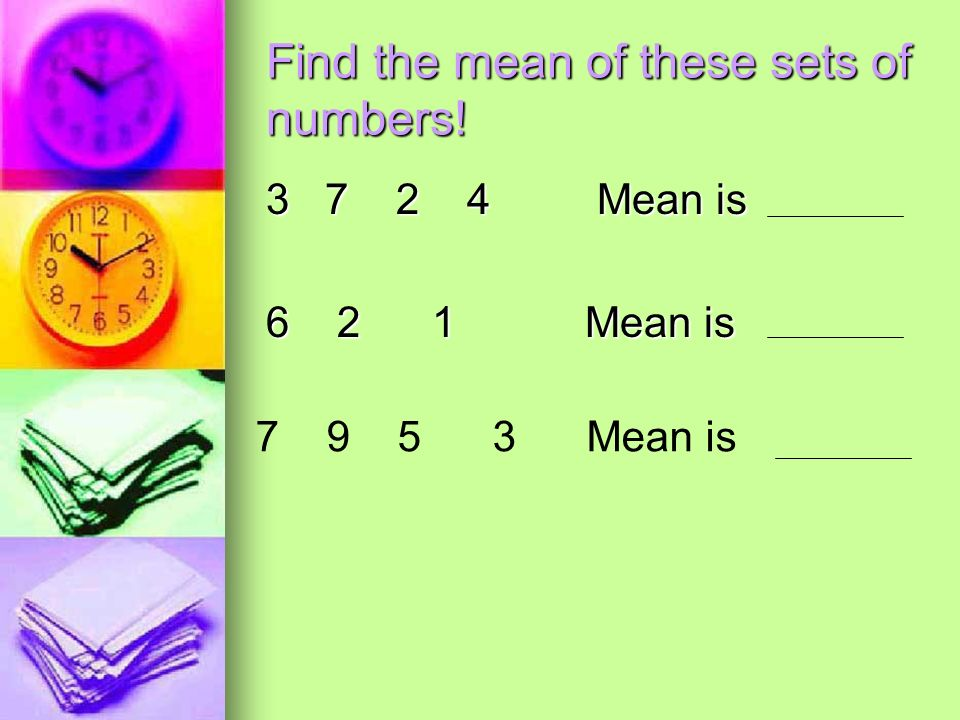 how to find the mean of numbers